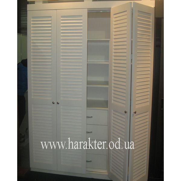 Сделать шкаф с жалюзийными дверцами своими руками.